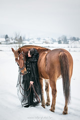 Oural et Wiinona (Sogo.photo) Tags: winter hiver neige snow schnee cheval horse pferd portrait people animaux animal pet amitié beuty friendship