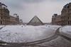 Pyramids on ice (MF[FR]) Tags: paris france musée du louvre pyramide îledefrance architecture architectural bâtiment building modern ancient old samsung nx1 winter hiver neige snow clouds nuage daylight