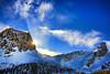 Earth, Wind & Fire (Gio_ offline) Tags: dolomiti dolomites dolomiten sun sunlight mountainscape mountain veneto italy sky wind clouds nuvole vento italia amicizia