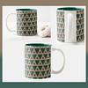 Green Tri's Coffee Mug (BradBBMcreations) Tags: drinkware coffeemug cups design products shop modern patterns patterndesign triangles