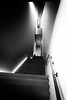 motion, breaking the space (Super G) Tags: sony012 bw blackandwhite stairs sanfrancisco california us geometry vertigo people silhouette sfmoma museum wood rail light figure