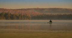 Pure enjoyment (jaros 2(Ron)) Tags: canisbaylake algonquinprovincialpark ontario canada canoe dawn nikon autumn