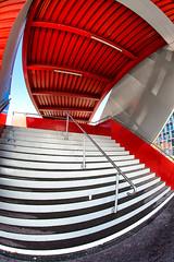 Red (Guy Goetzinger) Tags: architektur treppen goetzinger d500 nikon architecture stairway stairs escalier red fisheye outdoor abstract abstrait design