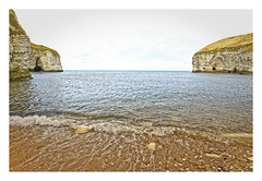 North Landing Beach (Myrialejean) Tags: northlanding flamborough bridlington yorkshire eastriding beach coast seaside sea ocean cliffs sand water calm caves pebbles