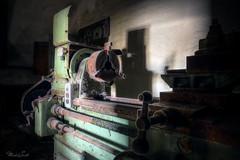 Frozen lathe (Michal Seidl) Tags: abandoned sawmill opuštěná pila verlassene ehemalige sägewerk workshop hdr infiltration industry germany detail urbex