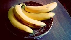 Bananas! 365/118 (Maenette1) Tags: bananas basket yellow table menominee uppermichigan flicker365 michiganfavorites project365