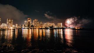 Fireworks at Hilton Hawaiian Village, Waikiki