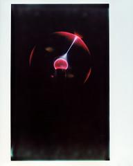 Plasma discharge (Howard Sandler (film photos)) Tags: plasma globe discharge arc spark instant instax wide graflex crowngraphic schneider