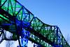 Bridge / Brug / Brücke (jo.misere) Tags: brug bridge duisburg germany duitsland groen blauw green blue lamp lights