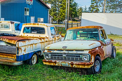 Fords & Rust--DSC08272--Port Orford, OR (Lance & Cromwell back from a Road Trip) Tags: portorford currycounty oregon oregoncoast sony sonyalpha emount 24240mmlens 24240mm a7ii