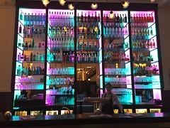 Background of a bar in Old Town portion of Koblenz, Germany. (kgpnative) Tags: colours colors barscene coblenz oldtown shadows lightandshade germany koblenz glassesandlights lights glass background bar