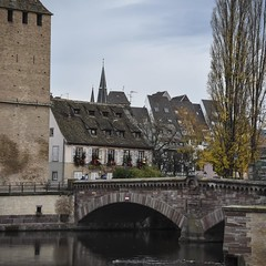 Layers (trainmann1) Tags: nikon d7200 nikkor 18200mm amateur handheld europe november 2017 fall vacation honeymoon strasbourg france strasbourgfrance french beautiful amazing scenic postcard buildings architecture building water canals canal colorful colors vibrant bridge bridges