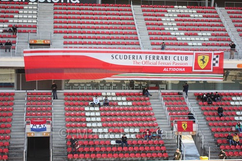 The Ferrari Club banner at Formula One Winter Testing 2018