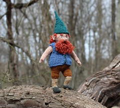 Ah, yes.  A vest is much better for today (Crazyquilter) Tags: forestgnome knitteddoll rupert