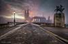 Strange morning II (Dani Maier) Tags: zurich zürich switzerland schweiz fog grossmünster cityscape sunrise münsterbrücke tourism sonnenaufgang nebel myst