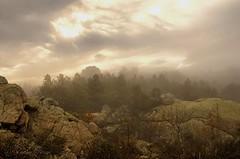Sunrise mountain 2 (sergecos) Tags: paysage landscape sunrise leverdesoleil montagne mountain ciel sky nuages clouds nature morning explore trees