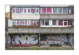 Council Housing, East London, England.