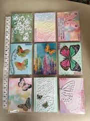 Beautiful Butterflies pocket letter for a swap (CraftyBev) Tags: inking glitter embossing diecuts stamping butterfliespocketletter