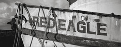 Red Eagle, Astoria, Oregon (austin granger) Tags: redeagle astoria oregon fishing boat columbiariver docked xpan bow moored ropes lines