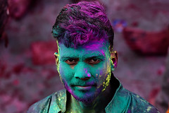 Faces of Holi (sssnanal) Tags: ©shriphotography faces portrait india incredibleindia travel travelphotography travelgram travelindia indiatravelgram culture tradition barsana nandgoan village places people ngc