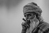The smoker (Tati@) Tags: people bw smoke pushkar beard man