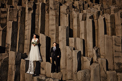 Wang Song & Ran (LalliSig) Tags: wedding photographer iceland people portrait portraiture pink reynisfjara beach basalt columns