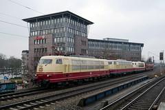 P1480046 (Lumixfan68) Tags: eisenbahn loks baureihe 103 e03 sechsachser deutsche bahn db museum koblenz lützel sonderfahrten elektroloks schnellfahrloks