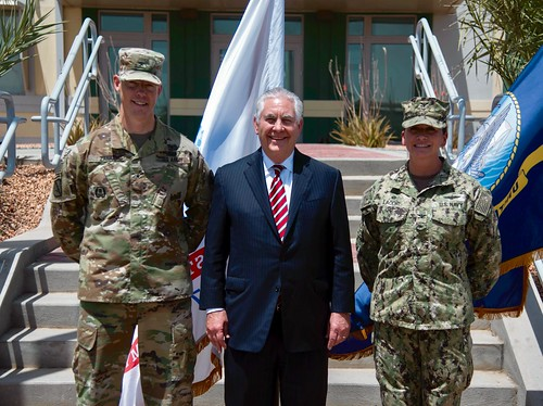 Secretary Tillerson Meets With Army General Zana and U.S. Navy Captain Lacore in Djibouti