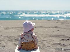 Etty (Rose Tinted Digital) Tags: baby babies portraiture portrait beach hot spain blue pink girl