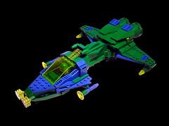 Biotron Ship BX-16 (Crimso Giger) Tags: lego moc space spaceship starship legospaceship legoship green biotron vaisseau vaisseaulego afol