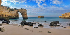 Arco de Albandeira (anj_p) Tags: algarve arch arcodealbandeira atlantic ocean porches portugal beach clifs landscape morning panorama rocks seascape goldenhour