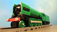 LEGO LNER Gresley P2 - Steam Engine MOC (TheBricksmith) Tags: lego lner p2 gresley steam train moc creation design afol nigel mallard flying scotsman cock o the north prince wales photography model