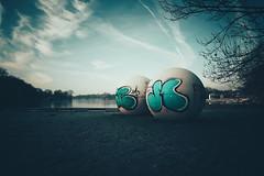 giant pool balls (christian mu) Tags: muenster münster aasee aaseekugeln germany urban christianmu sony sonya7riii sonya7rm3 252 25mm batis252 batis zeiss winter