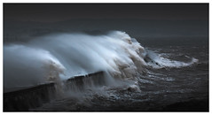 Sea Vs Wall (picturedevon.co.uk) Tags: brixham breakwater torbay englishriviera devon uk storm winter waves sea seascape lighthouse dark white blue outdoors canon weather wwwpicturedevoncouk