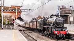 45212 Twyford 08 March 2018 (3) (BaggieWeave) Tags: berkshire twyford gwr gwml greatwesternrailway greatwesternmainline stanier black5 blackfive 45212 460 steamengine steamlocomotive steam steamtrain