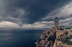 The lighthouse (Vagelis Pikoulas) Tags: light lights lightroom lighthouse sunset clouds cloudy cloud loutraki canon 6d tokina 1628mm landscape sea seascape view dramatic day sky skyscape nature january winter 2018