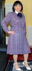 Birgit026191 (Birgit Bach) Tags: suit kostüm pleatedskirt faltenrock bowblouse schleifenbluse