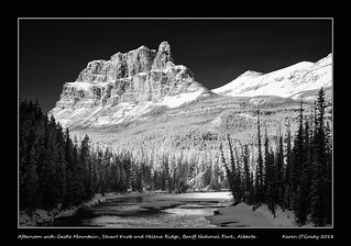 Afternoon with Castle Mountain, Stuart Knob and Helena Ridge, Banff National Park, Alberta