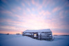 Arctic cabin @sunset (Kristaaaaa) Tags: island abandoned arctic building cabin canada cold fujixt2 fujifilm house north northern nothwestterritories sky snow sunset traditional tuktoyaktuk winter velviavivid colour dusk