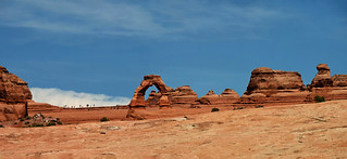 Moonscape exploring, the Delicate Arch at Arches National Park, Moab Utah