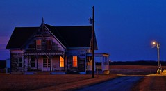 Blue Hour (Tim @ Photovisions) Tags: house night farm sky building farmstead rural