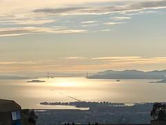 Golden Gate Vista (Melinda Stuart) Tags: bridge goldengate sun reflection lateday afternoon 4pm berkeley uc strawberrycanyon west view sea clouds sunset explore berkeleywire berkeleyside