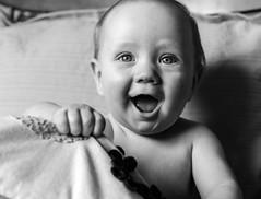 Lucas b&w-1 (Chris Shaw - chriscross) Tags: mono baby christening smile 80d