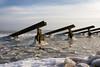 IJsbrekers - Marken, The Netherlands (Dutchflavour) Tags: ijsbrekers marken ice frozen nederland netherlands starling sterling cutwater defensivebulwark markermeer ijsselmeer waterland peninsula