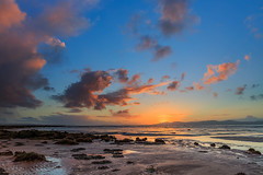 Sunset on Lough Foyle (jac.photography49) Tags: sea sunset mountains clouds foyle lough