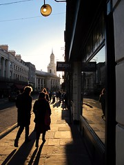 Gold Rush (S Clark) Tags: greenwich goldrush goldenhour golden streetlife streetphotography streetstories street londonstreet greenwichstreet nelsonroad stalfegechurch southeastlondon canon canonpowershotg12 uk londonist london sun sunset atmospheric