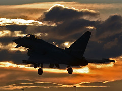 ZK322 - Sunset (np1991) Tags: royal air force raf lossiemouth lossie moray scotland united kingdom uk eurofighter typhoon fgr4 nikon digital slr dslr d7100 camera sigma 50500mm 50 500 50500 aviation planes aircraft sunset zk322 1f 1 one fighter squadron sqn