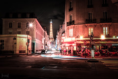 Rue Saint-Dominique, Paris, France (KSAG Photography) Tags: street streetphotography night nightphotography longexposure hdr city urban paris france europe travel tourism monument eiffel tower tour lighttrails nikon march 2018 wideangle heritage history architecture