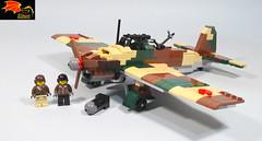 Kawasaki Ki-32 (Eínon) Tags: lego ww2 world war two military japan empire japanese pacific battle kawasaki army cooperation plane aircraft bomber light