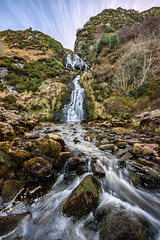 """""""Assaranca Waterfall"""" Maghera - Ardara (Gareth Wray - 10 Million Views, Thank You) Tags: mountains landscape 2018 view county donegal ireland irish countryside assaranca maghera adara killybegs ardara nature grass mts gareth wray photography strabane nikon d810 bay caves beach nikkor 1424mm wide angle lens scenic drive tourist tourism location visit sight site summer cloudy day photographer vacation holiday europe waw wild atlantic way granny pass glengesh outdoor grassland sky hill plant mountainside foothill ocean pebbles stones sand clonmany water fall waterfall loughros"""